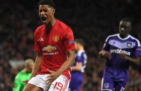 Manchester United 2-1 RSC Anderlecht. Europa League